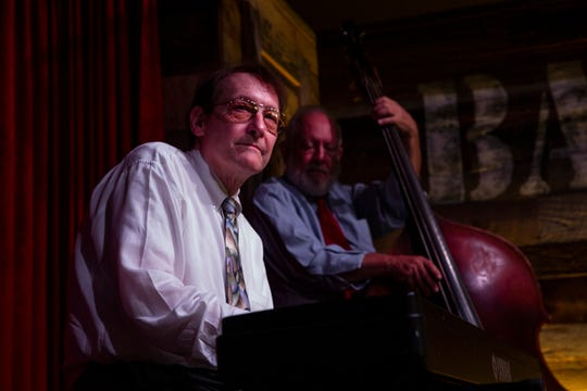 Roy Gerson and bassist Don Mopsick perform, Sunday, Aug. 18, 2019, at the Barrel Room in Fort Myers.