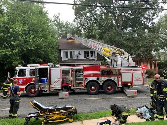 Englewood Fire Department and mutual aid crews respond to a house fire in Englewood on Aug. 18. The owner got out safely but one dog died.