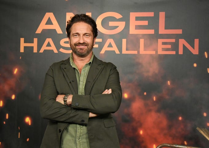 """Gerard Butler attends the """"Angel Has Fallen"""" premiere on Aug. 16, 2019, in Beverly Hills, California."""