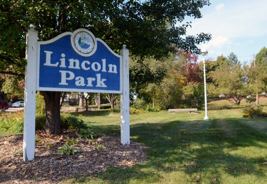 A sign for the park greets visitors between North and South boulevards Monday at Lincoln Park in Port Huron.