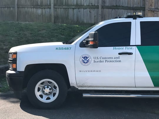 A U.S. Customs and Border Protection truck