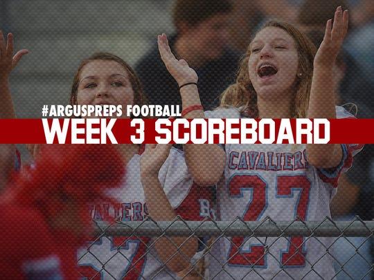 Week 3 scoreboard