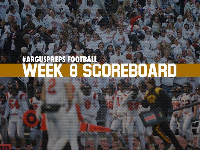 Week 8 scoreboard
