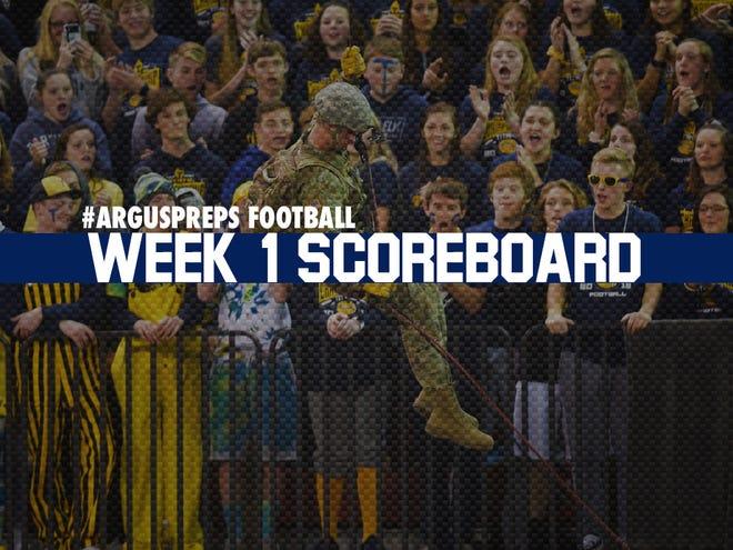 Week 1 scoreboard