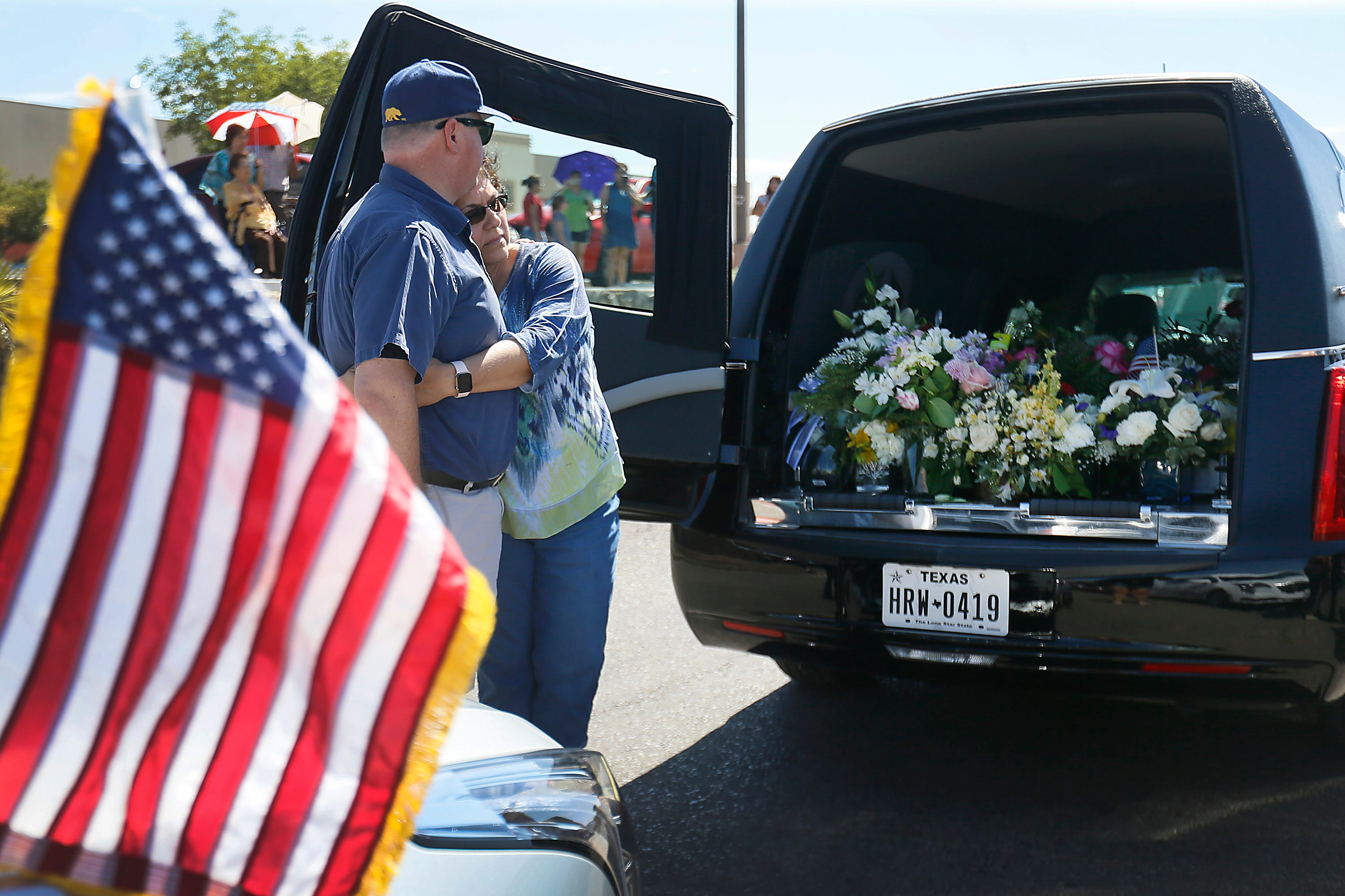 Walmart shooting victims honored with 22 hearse procession in El Paso