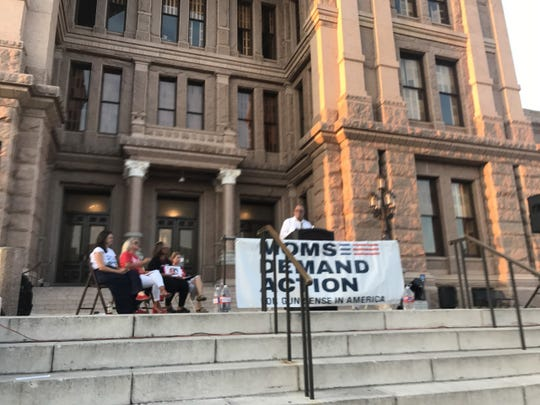 Following the mass shooting in El Paso, people attend a Austin rally for gun safety measures on Aug 17, 2019.