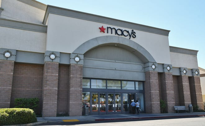 Customers trickle into Macy's at the Visalia Mall on Aug. 17, 2019. After an under-performing second quarter, cuts and closures are expected across the long-standing chain.