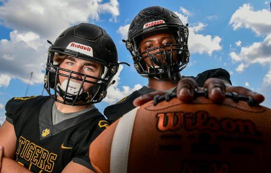 Crescent seniors Jamie Ellis, left, and Jaheim Bowman help lead the Tigers into this season's Class AAA Region 1 play.