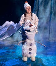 "Ryann Redmond as  Olaf in ""Frozen"" on Broadway."