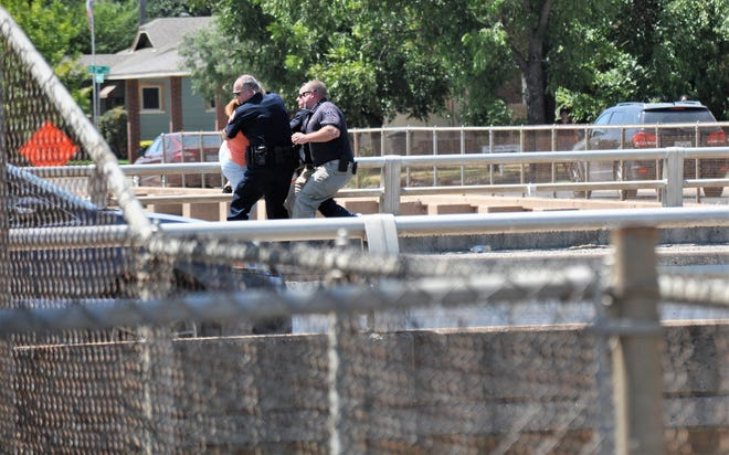 Abilene police and firefighters rushed a 14-year-old teen who threatened to jump off the bridge at South First and Mockingbird Lane on Monday.