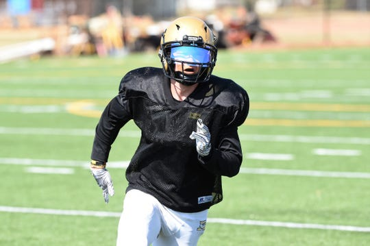 Abilene High's Colton Wilson does a little bit of everything for the Eagles and is part of an experienced senior class in 2019. Wilson will primarily play in the secondary, but also plays wide receiver and can punt and kick, if needed. Wilson is also a team captain this season.