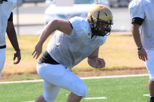 Abilene High tight end Colby Ernst was named a team captain for the 2019 season. Ernst is a three-year starter for the Eagles and is a threat to catch passes as well as block on the offensive line.