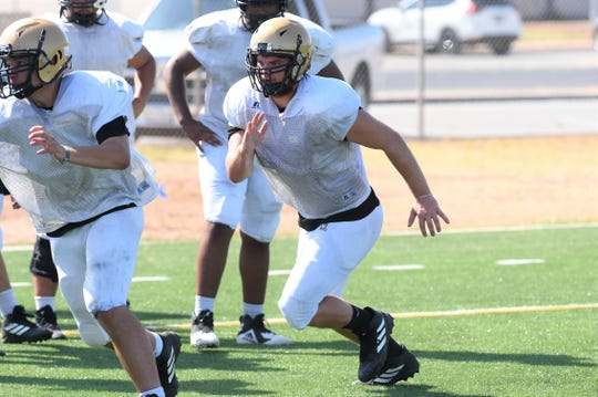Abilene High's Colby Ernst is entering his third year starting at tight end. Ernst provides an extra passing option for the Eagles as well as an able blocker on the offensive line.