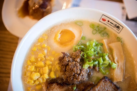 The Itto miso ramen comes with house-made ramen, chashu pork, ground pork, boiled egg, corn and scallion in miso broth.