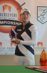 Ssu-Chia Cheng wins the 2019 FireKeepers Casino Hotel Golf Championship at Battle Creek Country Club on Sunday.
