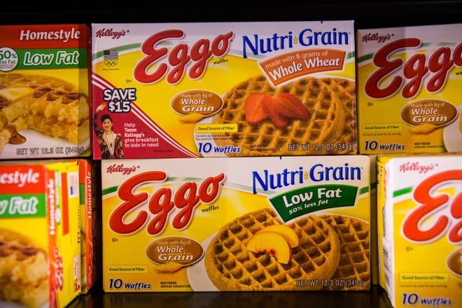 Boxes of Eggo Waffles/
