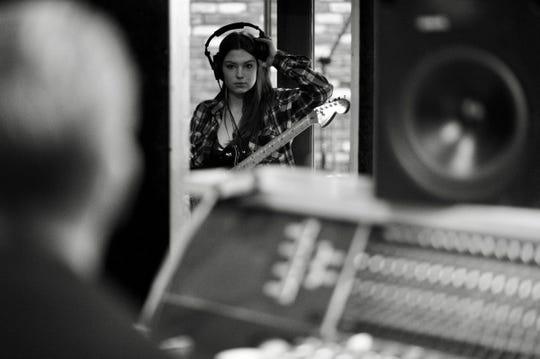 "Zoe Moreton works on ""Now"" at Seattle's London Bridge Studios."