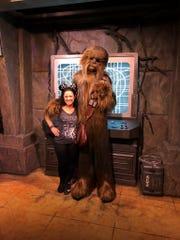 Jessica Bouwsma and Chewbacca.