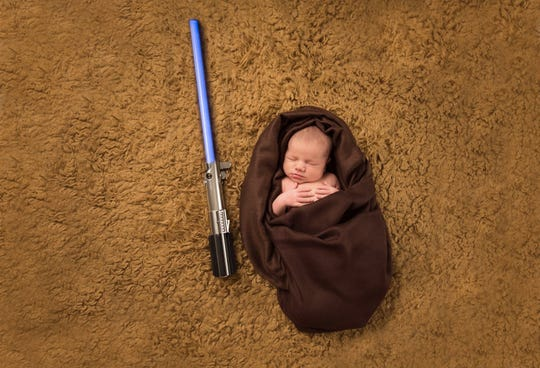 Luke Bouwsma when he was an infant dressed as his namesake Luke Skywalker.