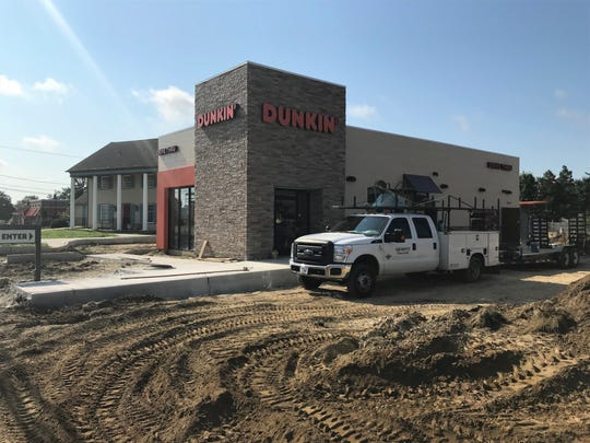 Construction workers are nearing completion of a Dunkin' restaurant on Route 70 between Harvard and Union avenues in Cherry Hill.