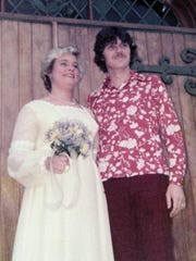 Dianne Camm and Kevin A. Murtaugh on their wedding day in 1976.