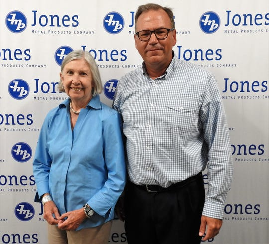 Retired Jones Metal Products Chairman Marion Sutton with Dan Erb, who in August added owner to his titles of President and CEO. Little was expected to change at the metal forming firm in West Lafayette.