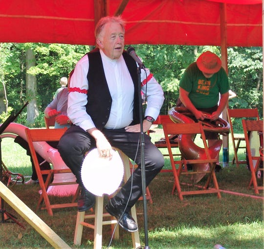 Chris Hart performs a historical portrayal during the 152nd G.A.R. Bean Dinner at McElwee Park in New Castle.