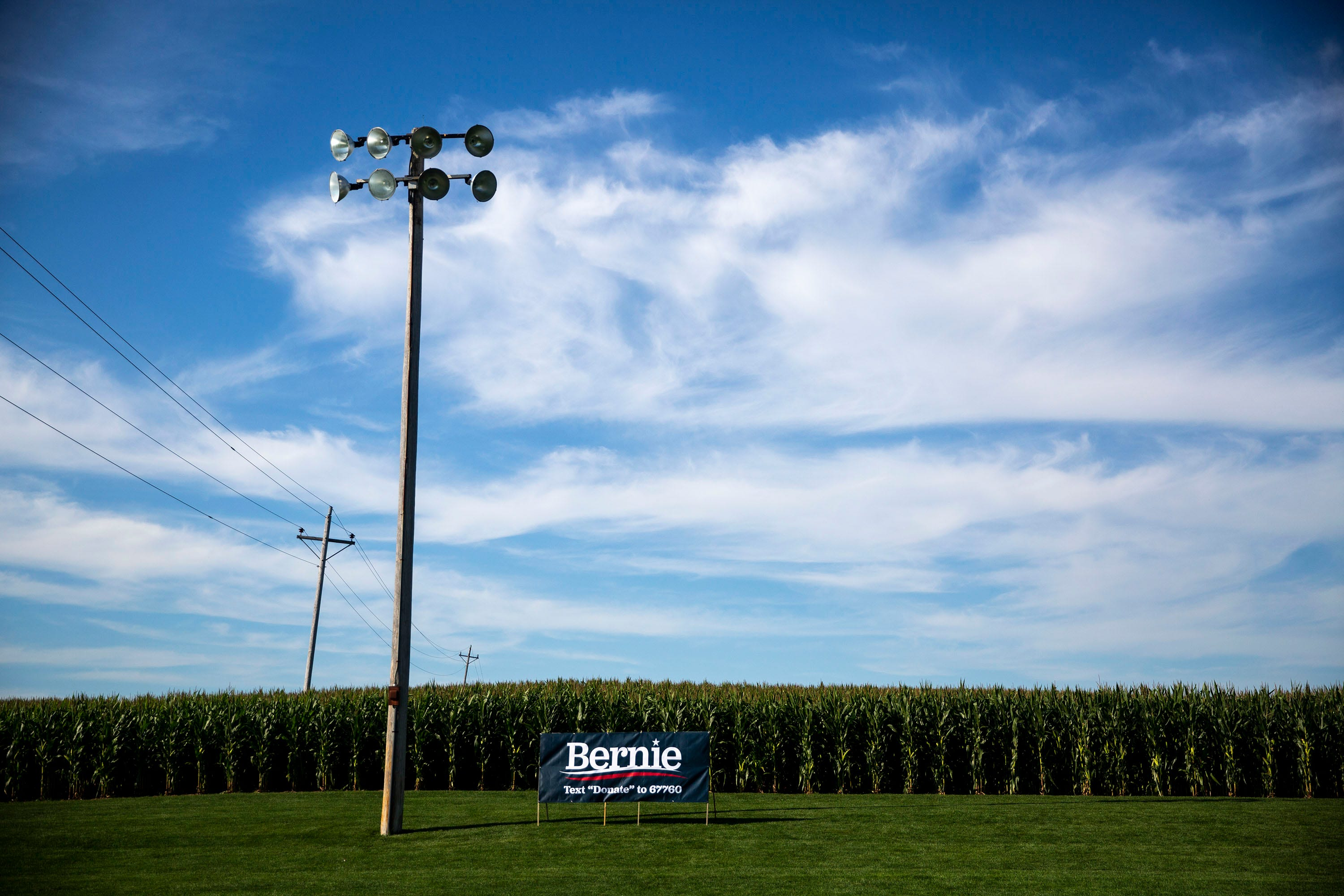 Photos: Bernie Sanders visits the Field of Dreams