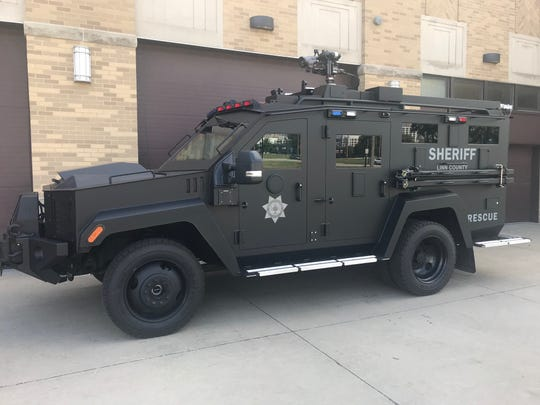 Linn County Sheriff's Office purchased an armored vehicle to protect responders from active shooters and other high-risk situations.