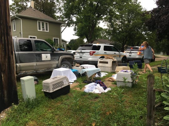 Buchanan County Sheriff's Office found 22 dogs, four of which were dead, at a Brandon residence where the occupant lived in poor conditions.