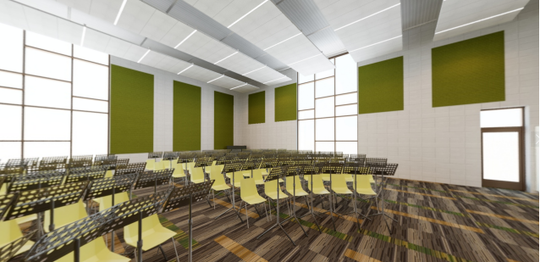 A band room addition at Saydel High School would be funded through a $20.625 million bond referendum going before district voters in September. The district says the bond would not affect the district's tax rate.