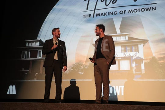 """(L-R): Directors Ben Turner and Gabe Turner at the """"Hitsville: The Making of Motown"""" premiere event. The red carpet and screening were held at the Harmony Gold Theater followed by an after-party at Fig & Olive in Los Angeles, CA on August 8, 2019."""