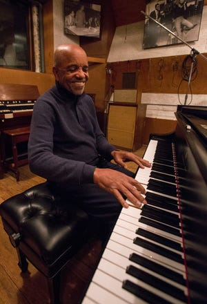 "Berry Gordy at the Motown Museum's Studio A in a scene from the 2019 documentary ""Hitsville: The Making of Motown."""
