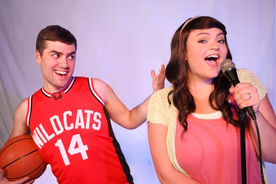 """Matt Wallace and Jordan Gagnon in the Ringwald Theatre's staging of """"High School Musical."""""""