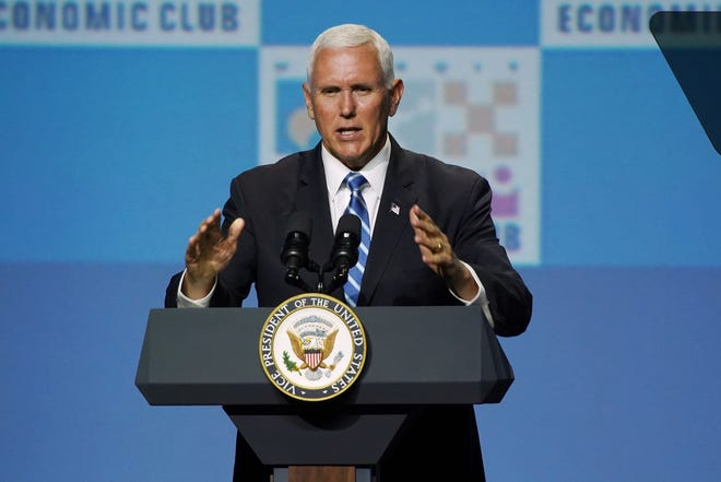 Vice President Mike Pence met with two Iraqi-American Chaldean advocates on Feb. 25, 2020, in Troy, Michigan. The Chaldean advocates asked for a halt to deportations of Iraqi nationals and spoke about the plight of minorities in Iraq.