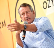In this July 21, 2018, file photo, Republican politician Mark Sanford speaks at OZY Fest in Central Park in New York.