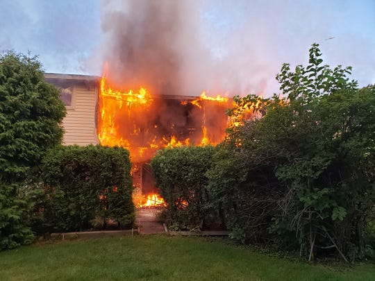 Troy firefighters responded to an early Monday morning blaze at a condominium near Interstate 75 and West Wattles Road.