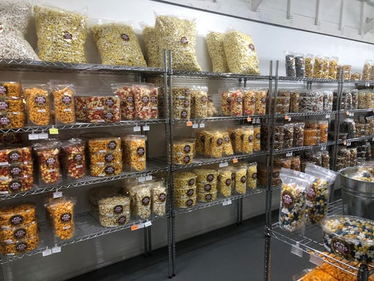 About 40 varieties are available for sale at the Faris Gourmet Popcorn retail shop, 770 W. Scott St., Fond du Lac.