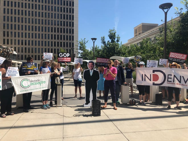 The Cardboard Cory bus tour kicked off Monday in Denver.