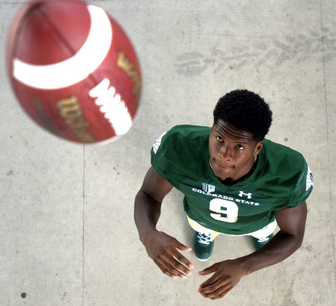 Colorado State football player Warren Jackson poses for a portrait on Friday, Aug. 16, 2019 at Canvas Stadium.