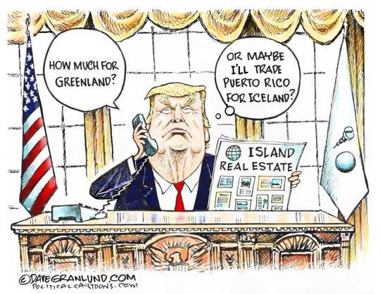 Buy Greenland or trade Puerto Rico.