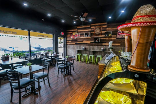 A look inside the 24-seat dining room at the new Tacos y Ceviches in San Carlos Park.