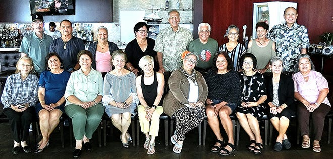 The Guam High School Class of 1965 held its quarterly luncheon at Papa's Restaurant on Airport Road, Guam on July 19 and 30 members and guests attended. The Class of 1965 also plans to have a catholic memorial Mass and Baptist memorial service headed by Hilda Pellicani of JFK and Victoria Cruz Perez, AOLG. A Class of 1965 golf tournament is planned and led by Frank Cruz and Peter Roy Martinez both from Father Duenas. Charlotte Anne Perez of JFK and Maryann Cabrera, AOLG heads the class family picnic event. For more info. contact Maryann Cabrera at maryannbcabrera47@yahoo.com or maryann.cabrera47@gmail.com or 688-5365. We are calling all Class of 1965 members to join us in planning for our 55th Class Reunion in 2020!