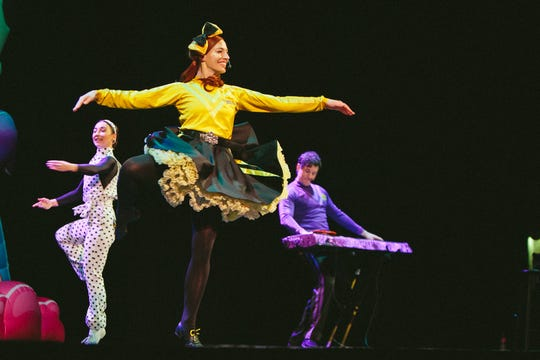 Emma Watkins is the first female member of the Wiggles. She'll perform her signature Irish and ballet dance moves during Thursday's Indianapolis concert.