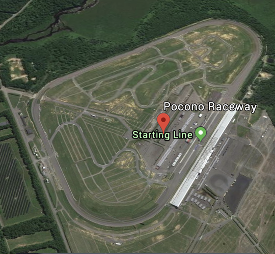 "Pocono Raceway is known as the ""Tricky Triangle."""