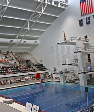 Divers compete  in the 2017 USA Diving FINA World Championships at the IUPUI Natatorium.