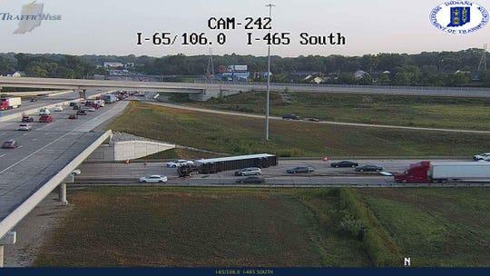 Indianapolis traffic: Crash near I-465 construction zone on