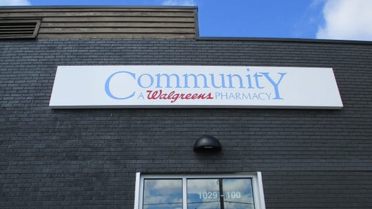 The exterior of Community A Walgreens Pharmacy on Aug. 14, 2019, prior to its opening.