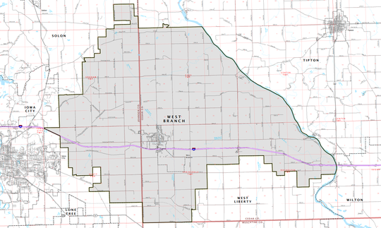 The West Branch School District lays across the Johnson and Cedar County line. It includes Springdale Township, Graham Township, Cass Township and some of Rochester Township.