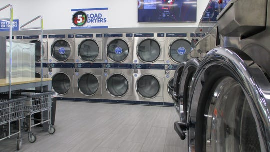 The interior of Clean Laundry, 362 Highway 1, one of the newest Iowa City businesses to open.
